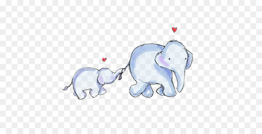 elephant mother infant clip art cartoon baby elephant
