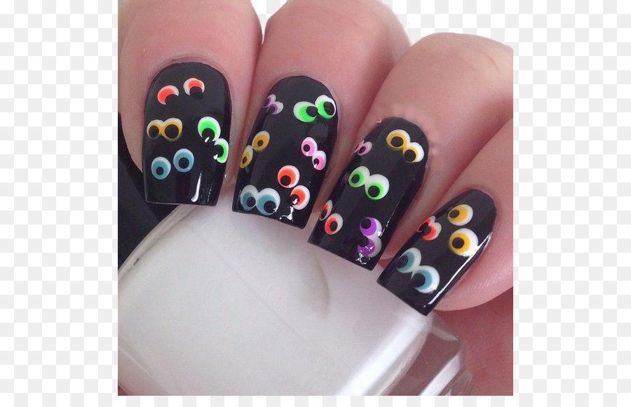 Nail Art Halloween Artificial Nails Nail Small Eyes Png Download