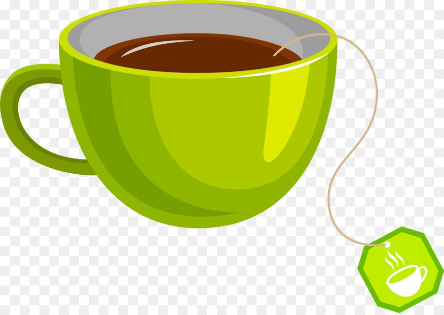 Green tea Coffee cup Teacup - Vector green cup 3793*2680 ...