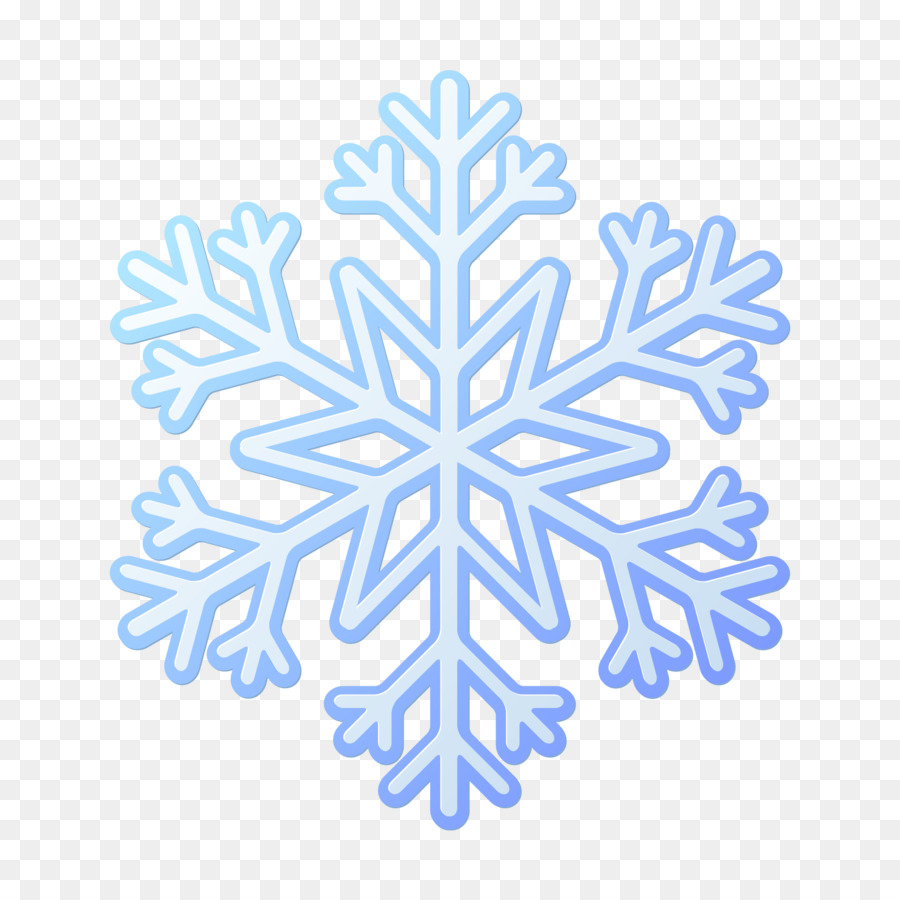 Copo de nieve Euclidiana del vector Azul - Hexagonal único patrón de ...