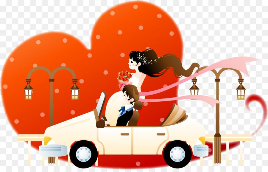 Gambar Ilustrasi Kartun Cinta Merah Dan Kartun Pasangan Unduh