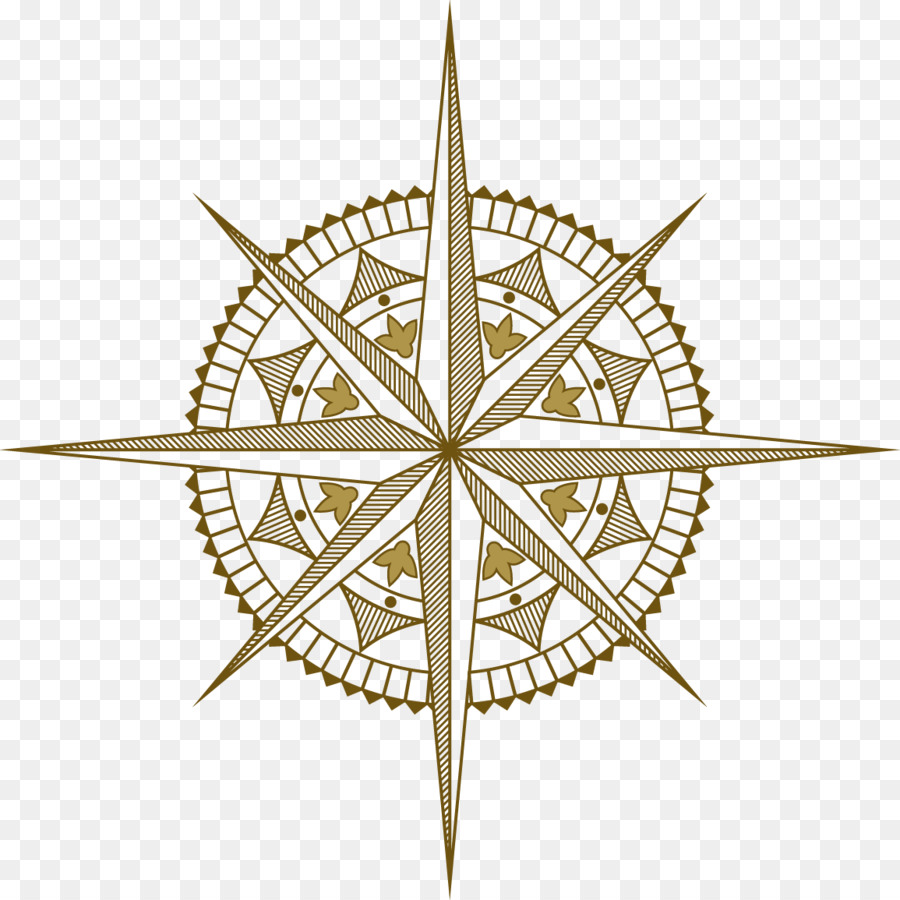 Ancient Vector Compass Png Download 1155 1155 Free