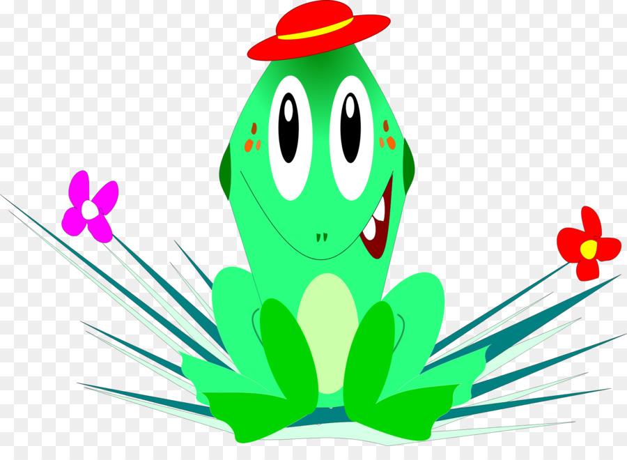 Katak Kartun Ilustrasi Painted Frog Unduh Pabrik Daun