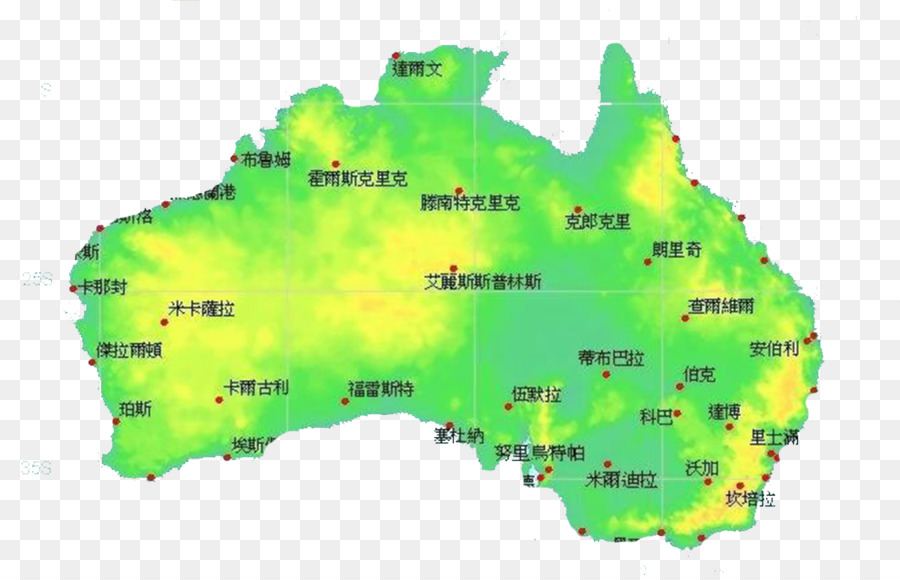sydney brisbane perth adelaide victoria yellow green cartoon map of australia