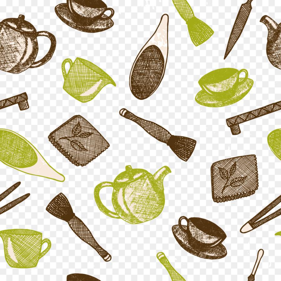 Kitchen Teapot Illustration - Kitchen Tools Pattern png download ...