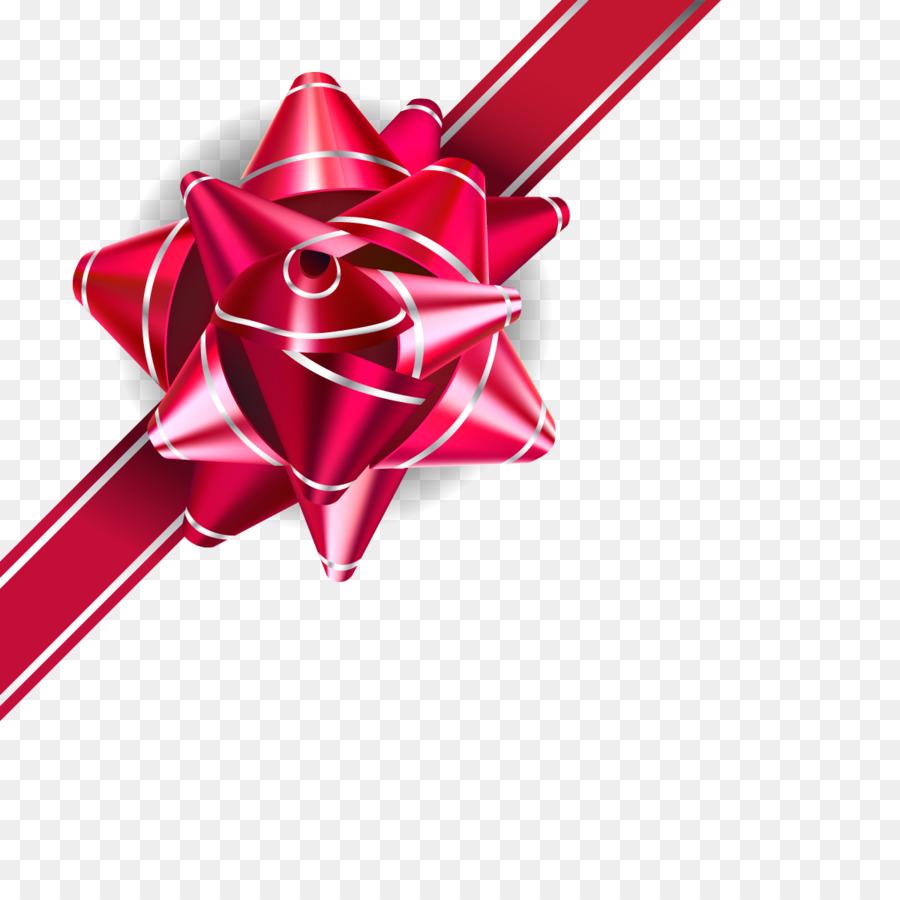 Wedding invitation Ribbon Gift - Vector red garland png download ...