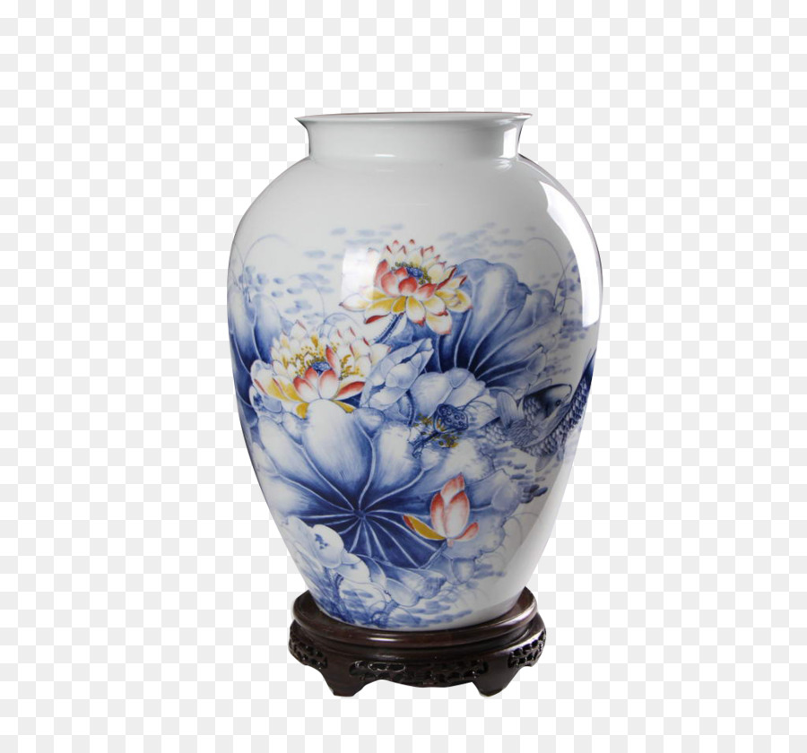 Jingdezhen Porcelain Vase Blue And White Pottery Ceramic Vase Png