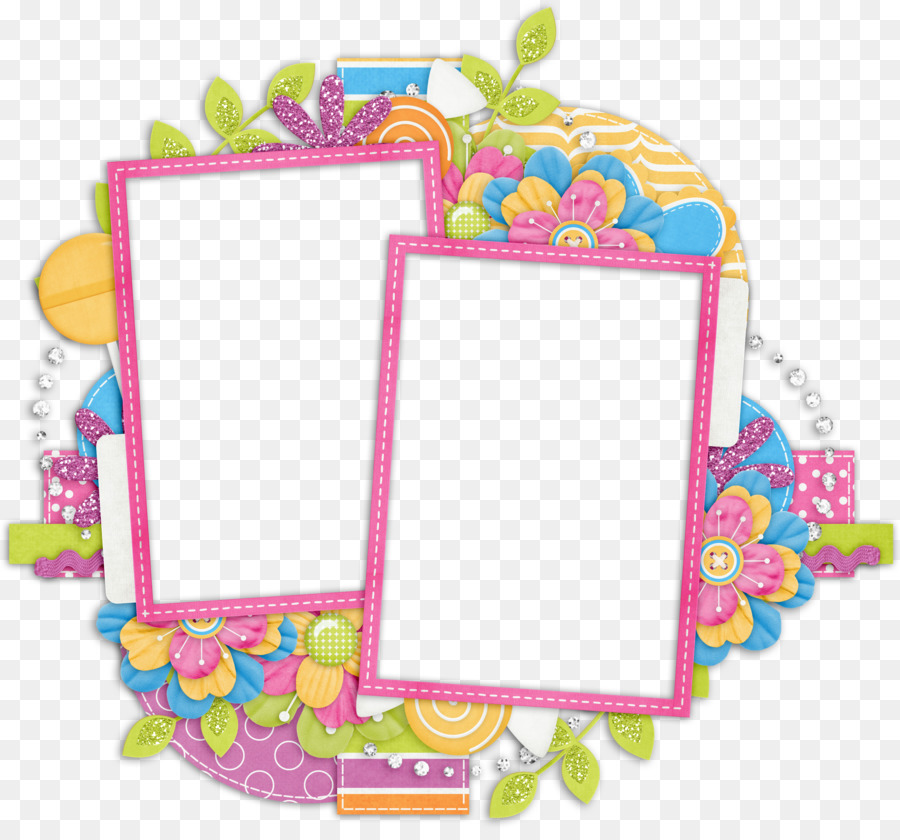 Pic Wall Jigsaw Photography Scrapbooking Film Frame Leaves Cartoon
