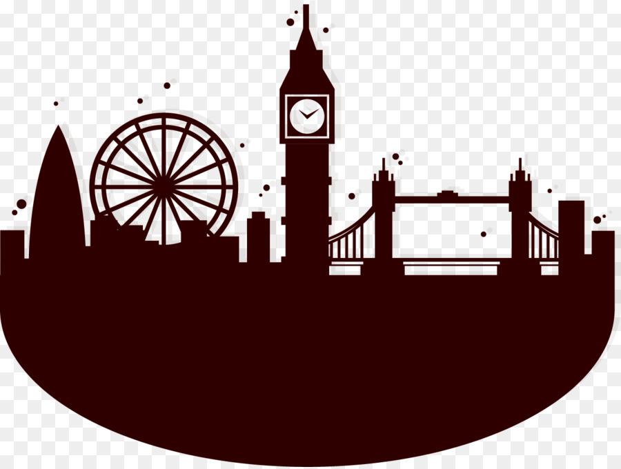 London Eye Silhouette Skyline