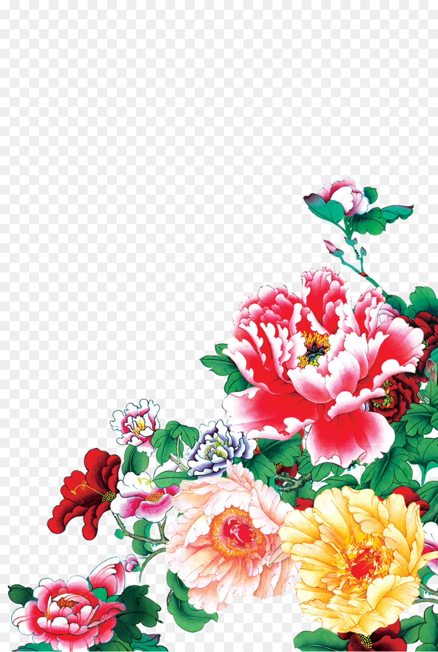 Mid Autumn Festival New Year Card Peony Png Download 20503050
