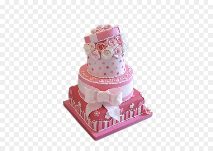Birthday Cake Icing Cupcake Wedding Cake Pink Bow Cake Png