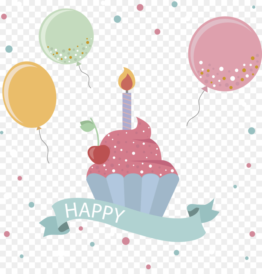 Paper Birthday Greeting Card Balloon Wave Point Background