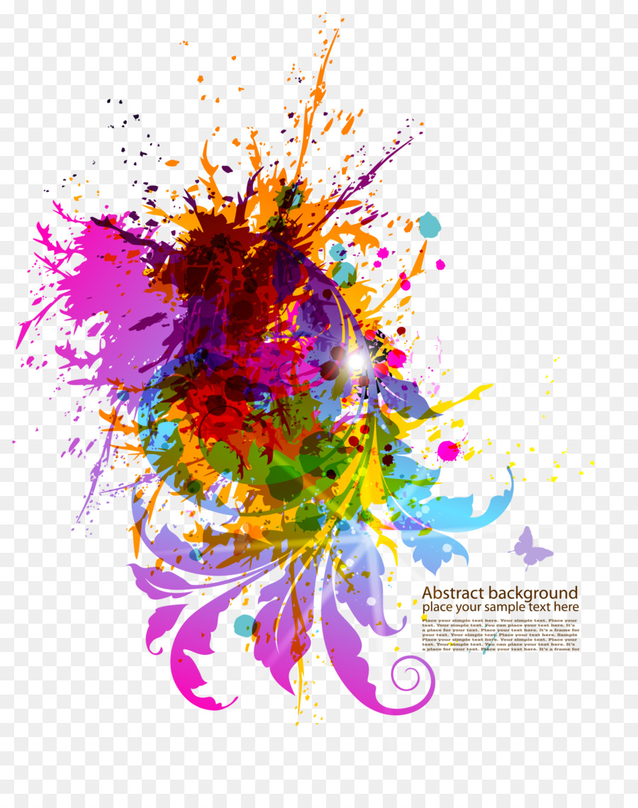 download colorful splash material vector