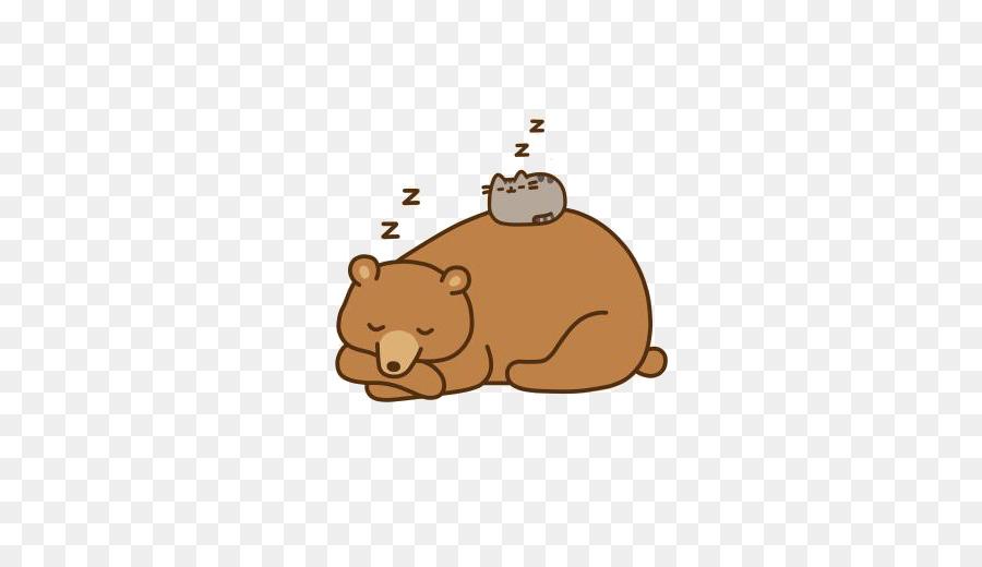 cat bear pusheen animation sleeping bear png download 525 516
