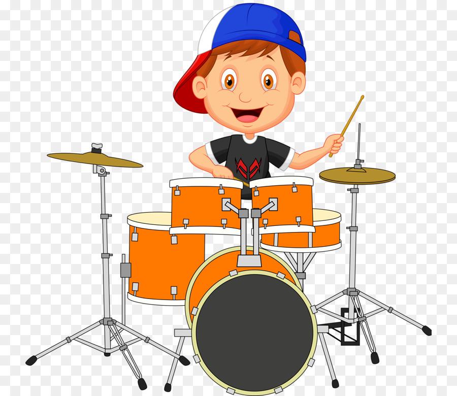 Drums Drummer Cartoon - Happy drums png download - 800*780 ...