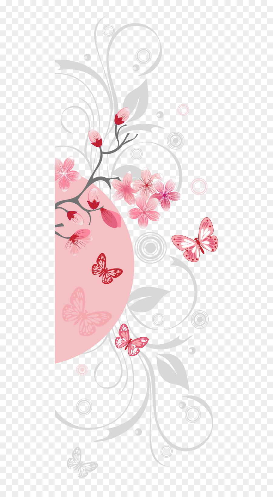 National Cherry Blossom Festival Pink Anese Blossoms Vector