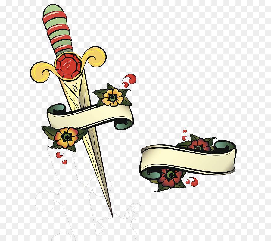 tattoo artist flash illustration graphic design an unusual sword