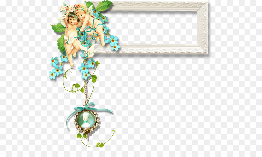 Recipe Decoupage Picture frame Collage Clip art - Angel Frame png ...