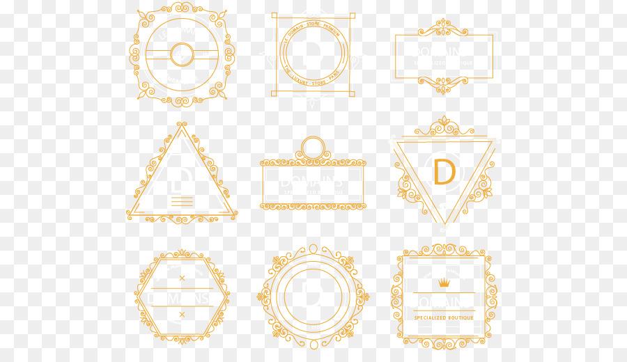 Marco de imagen de la modelo Amarillo - Vector pintado nueve marco ...