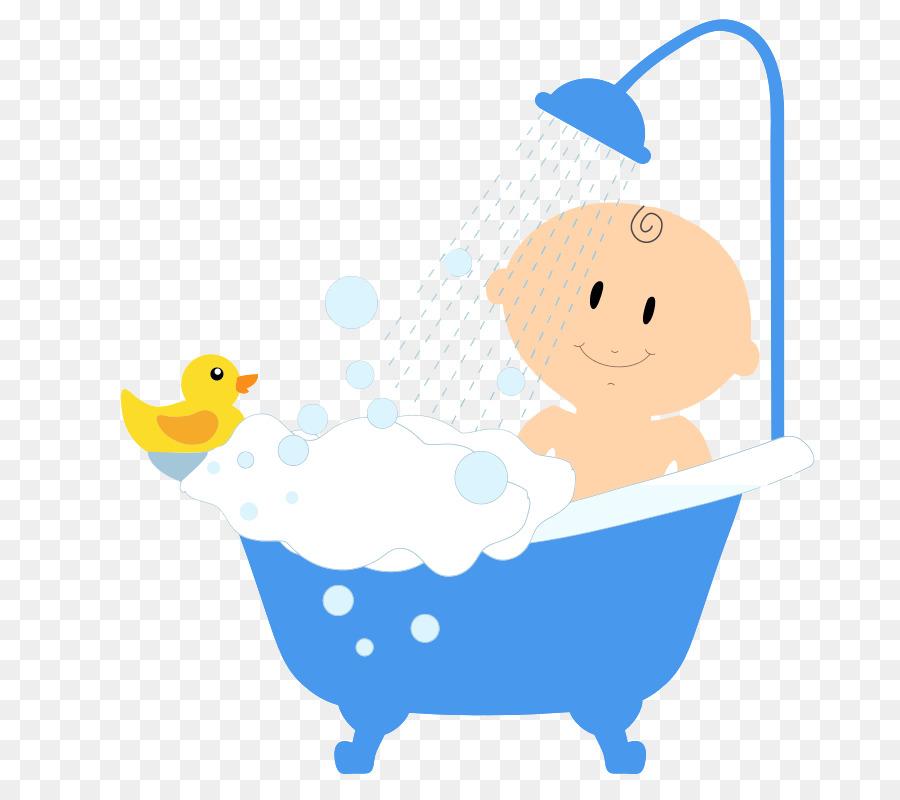 Shower Bathtub Bathroom Infant Clip Art   Bathing Kids