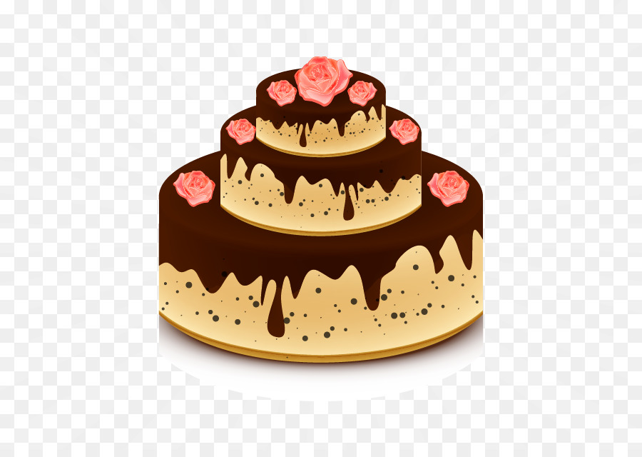 Chocolate Cake Wedding Cake Beach Rose Vector Rose Cake Png