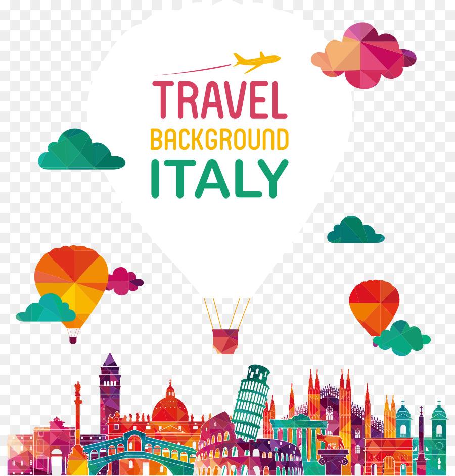 Italy Royalty Free Skyline Illustration Vector Origami Hot Air