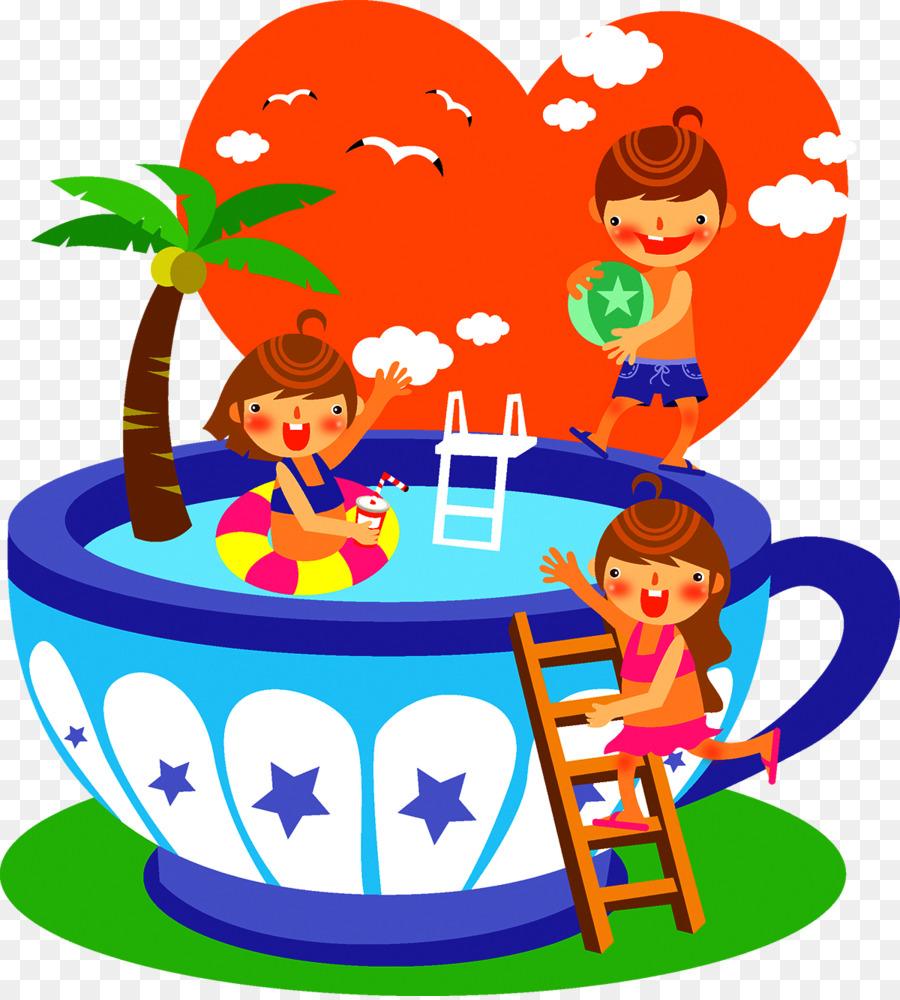 Verano Niño Clip art - Niños nadando ilustración png dibujo ...