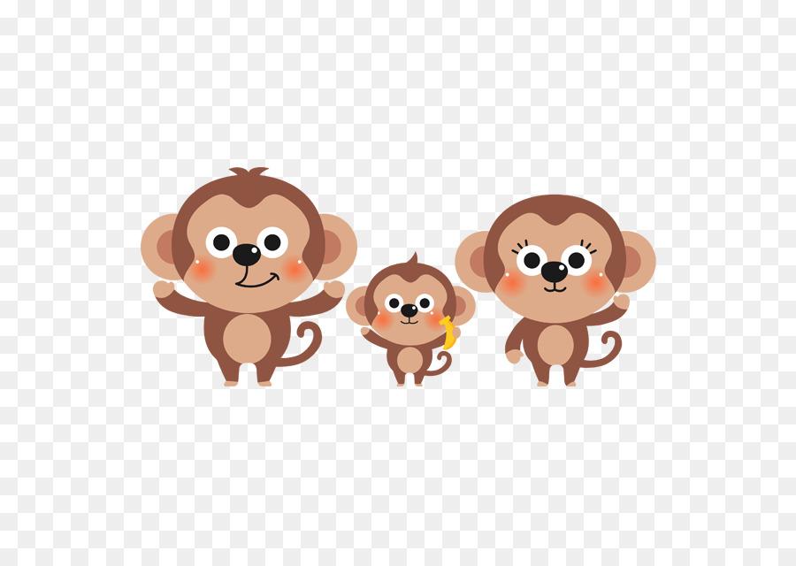 Panda Raksasa Keluarga Hewan Clip Art Monyet Kecil Yang Lucu