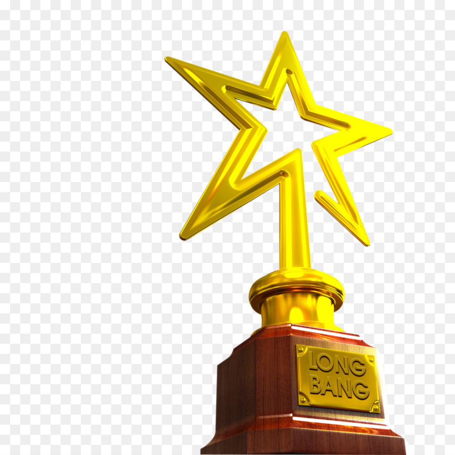 Golden Stars Award Microsoft Powerpoint Template Trophy Golden