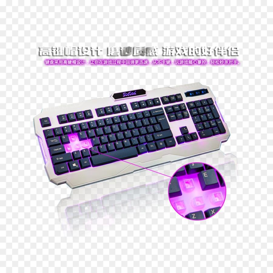 Teclado del ordenador Portátil, ratón de Ordenador de Juego de ...