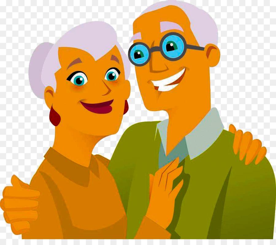 Augenfarbe: blau Figur: Ein paar Kilos zu viel Interessen: Musik hören, Kochen, Fernsehen, Reisen, Älteres Paar das glücklich in die Kamera lächelt.