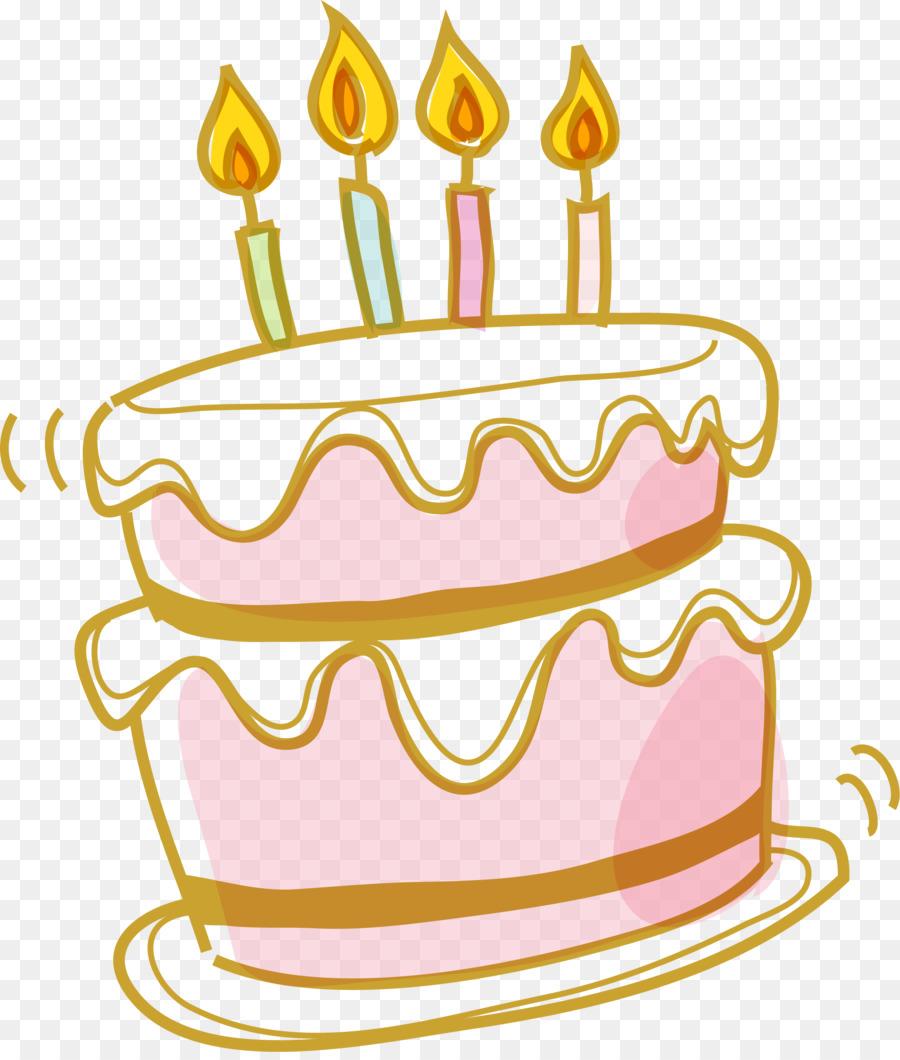 Birthday cake Wedding cake Cupcake Cream - Cartoon pink cake png ...