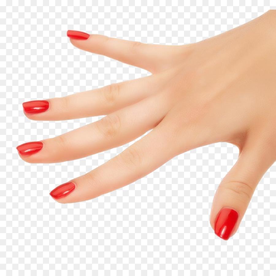Nail polish Manicure Cosmetics Gel nails - Red nails Hand Free ...