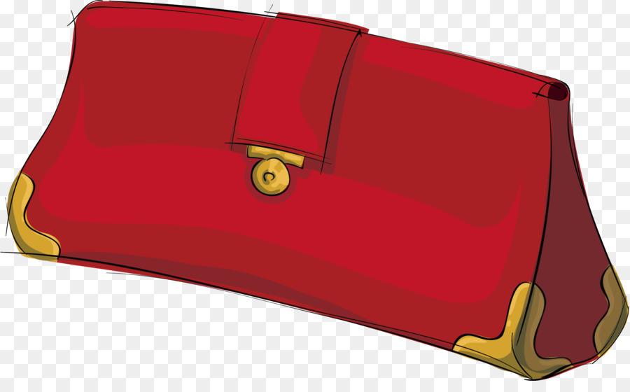 Clip Vector art de Bolso cartera la dibujo png Rojo de mano wqgnxRt4