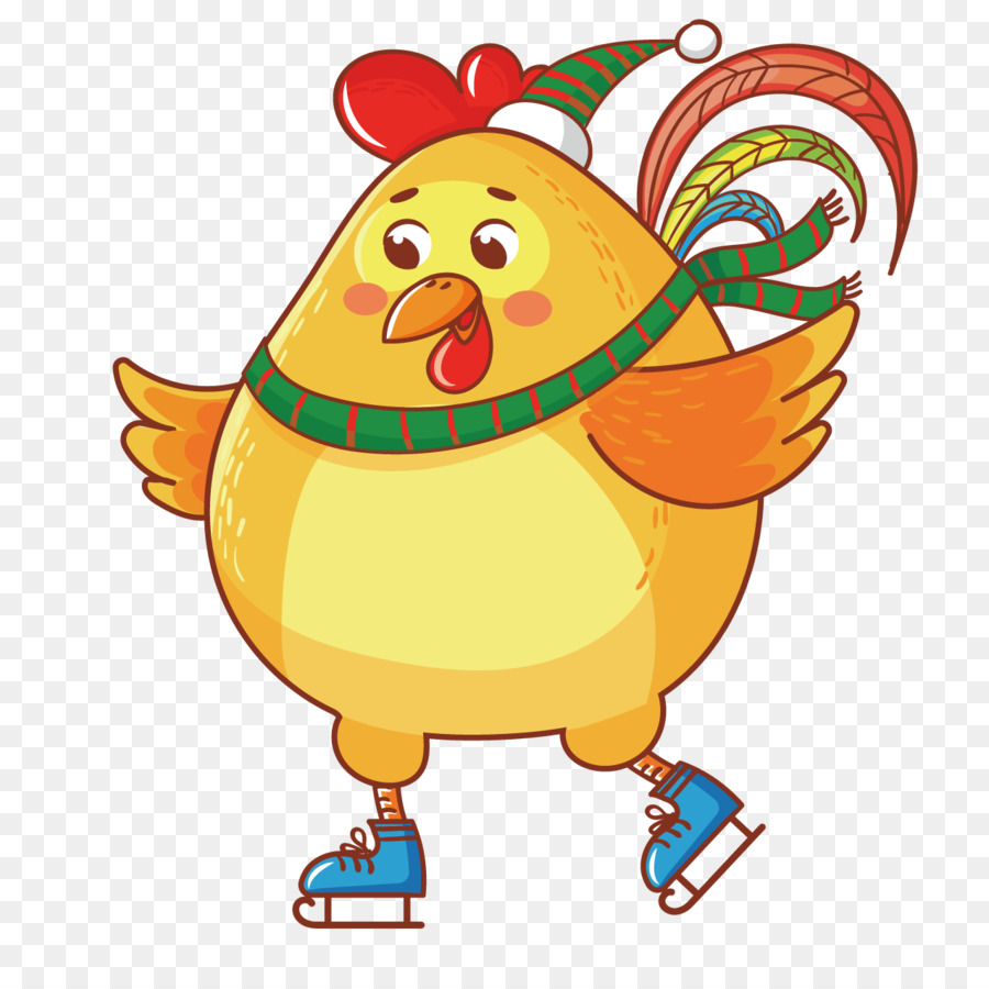 Chicken Cartoon Chinese New Year