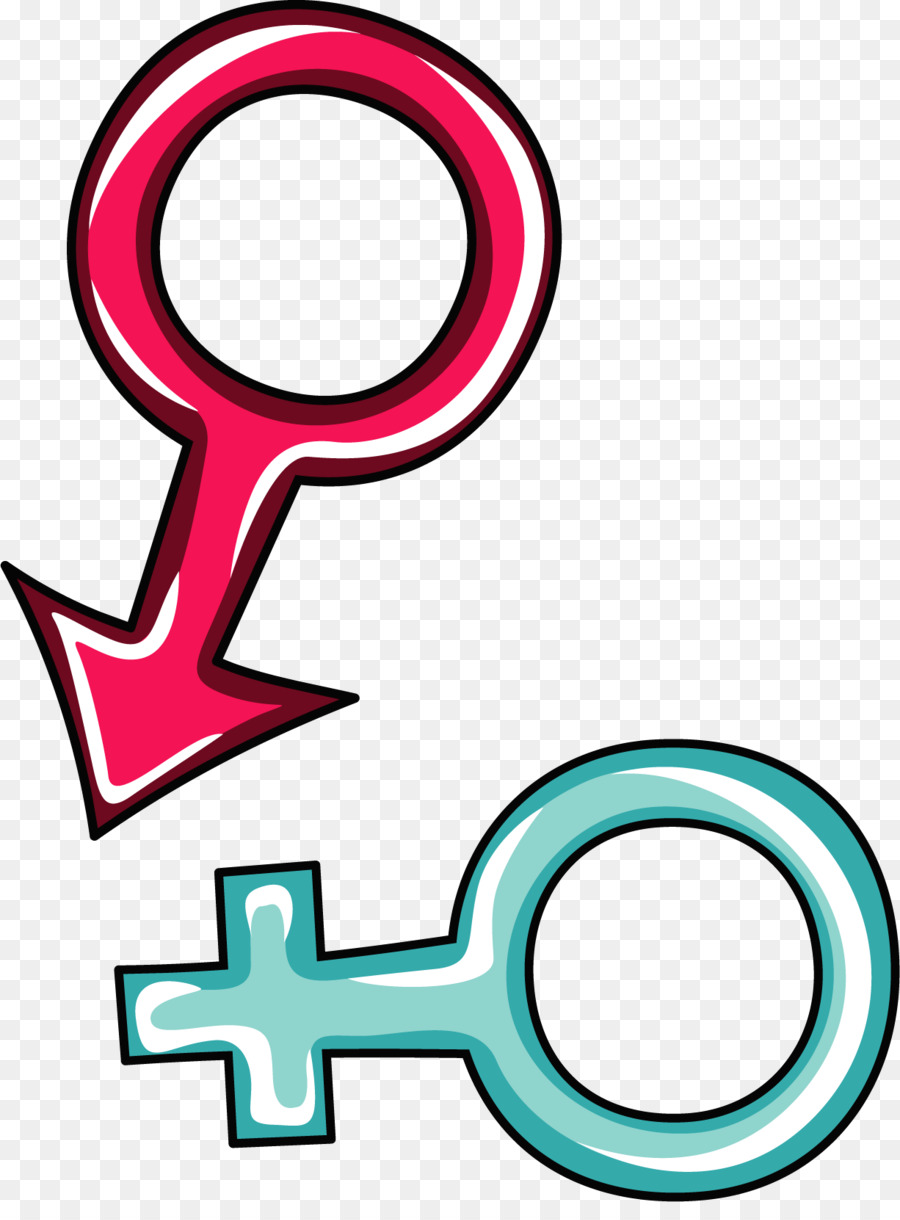 Gender Symbol Male Clip Art Vector Male And Female Symbol Painted