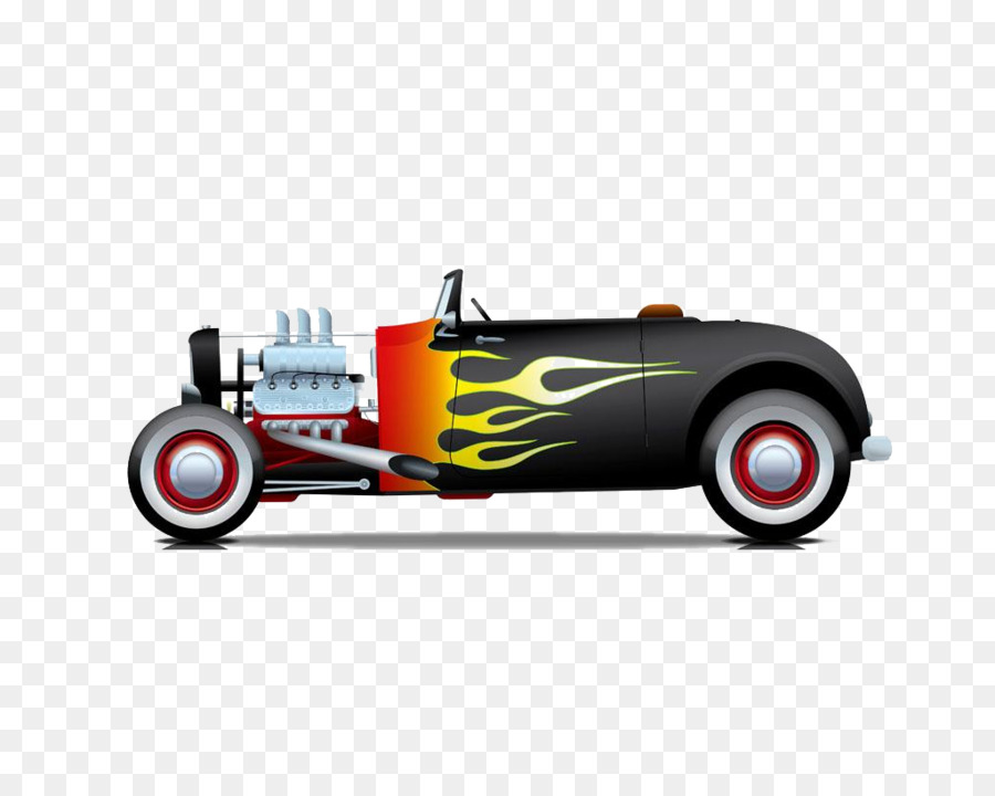 Sports car Hot rod Illustration - Cool classic car material free to ...