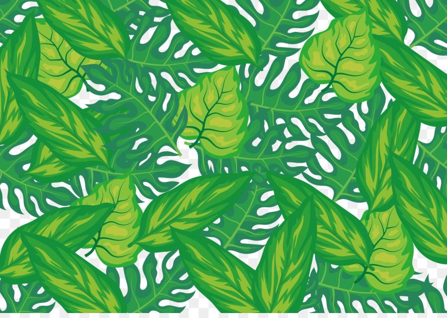 Leaf Herbalism Wall Decal Pattern