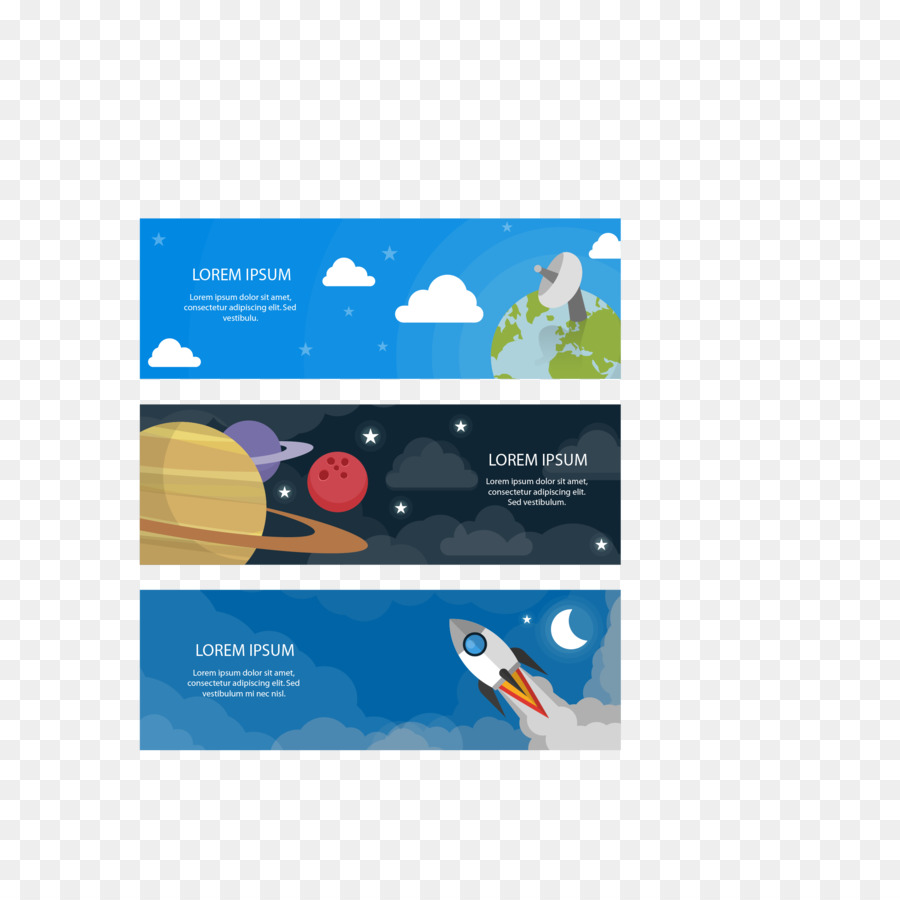 Flat Design Web Banner Advertising