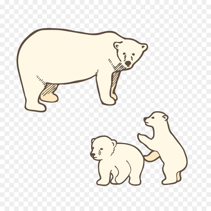 Bebé Oso Polar Perro oso pardo - Oso Polar patrón Formatos De ...