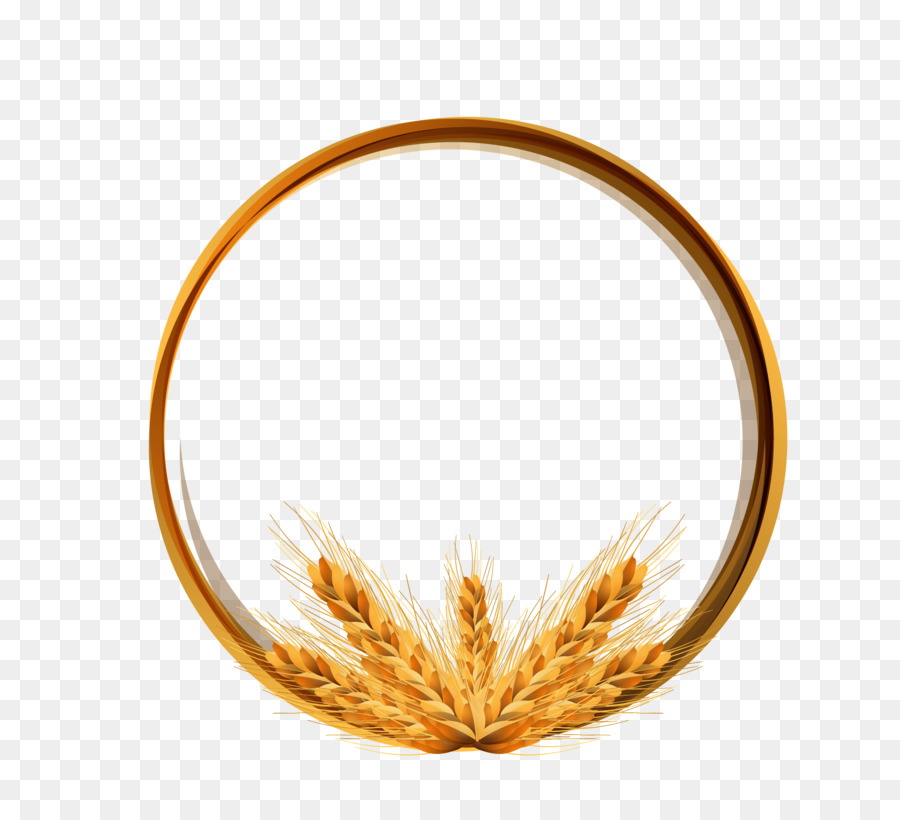 Logo Wheat Icon Golden Wheat Ring Vector Material 2058