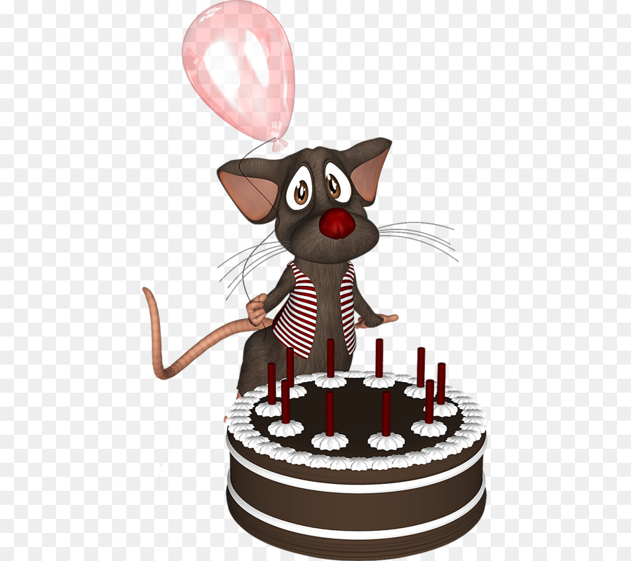Cat Birthday Cake Chocolate Cake Computer Mouse Cartoon Mouse And