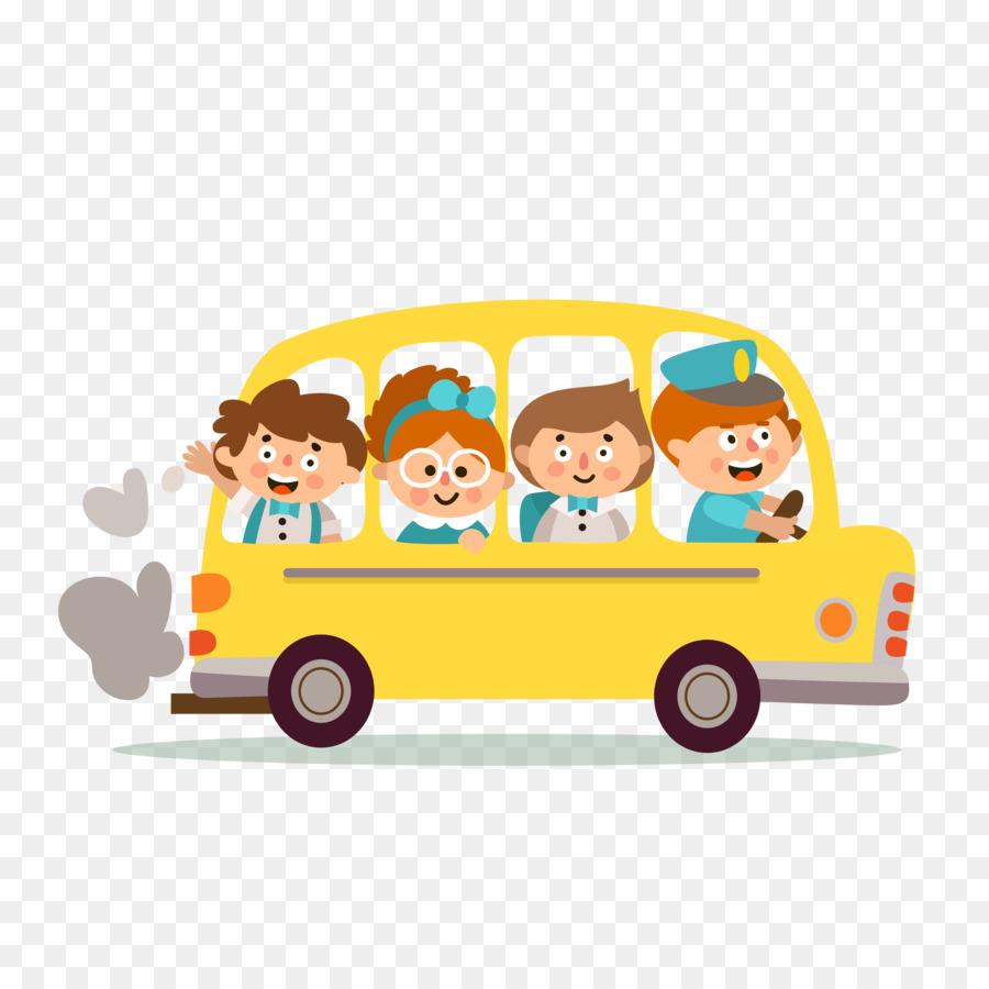 Schüler Der Schule Vorlage Für Microsoft PowerPoint Kind - Schulbus ...