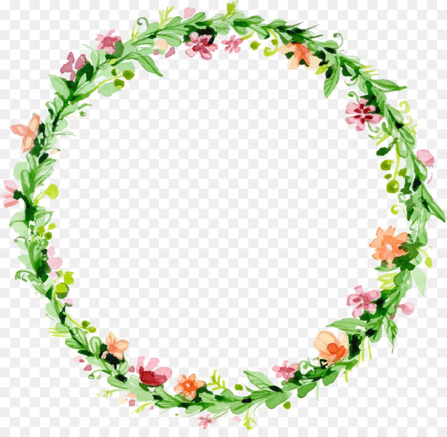 Wedding invitation Flower - Vector green garland png download - 1365 ...