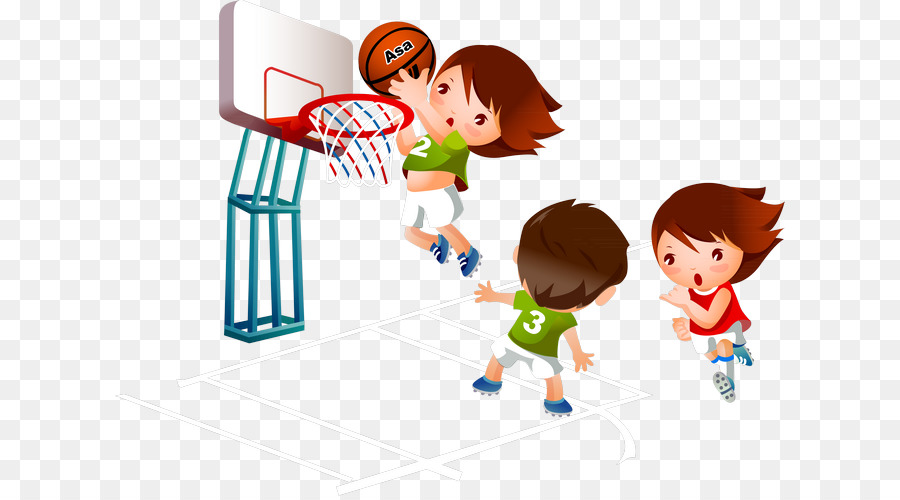 Playing basketball clip art