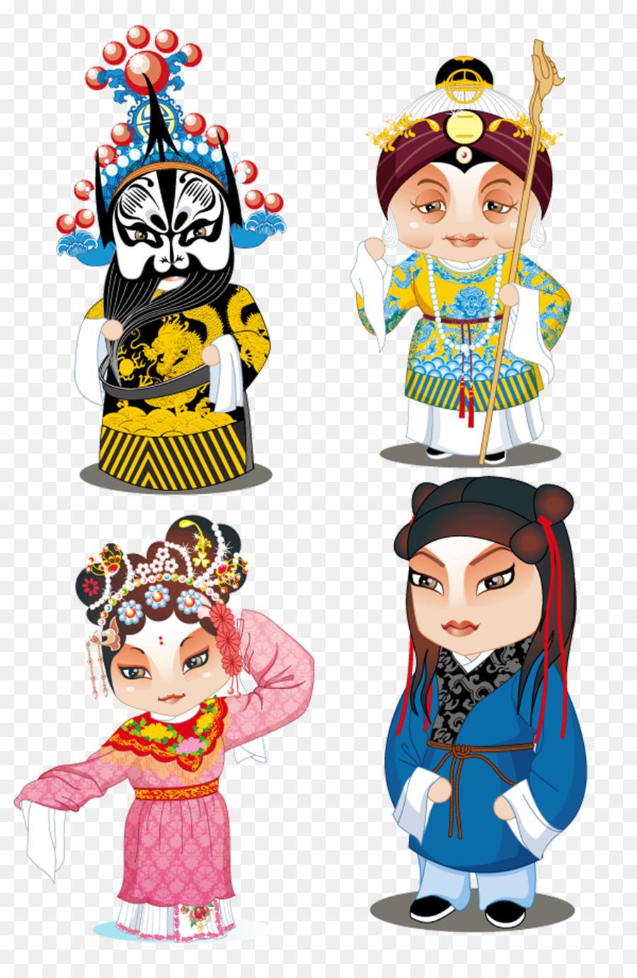 peking opera chinese opera cartoon