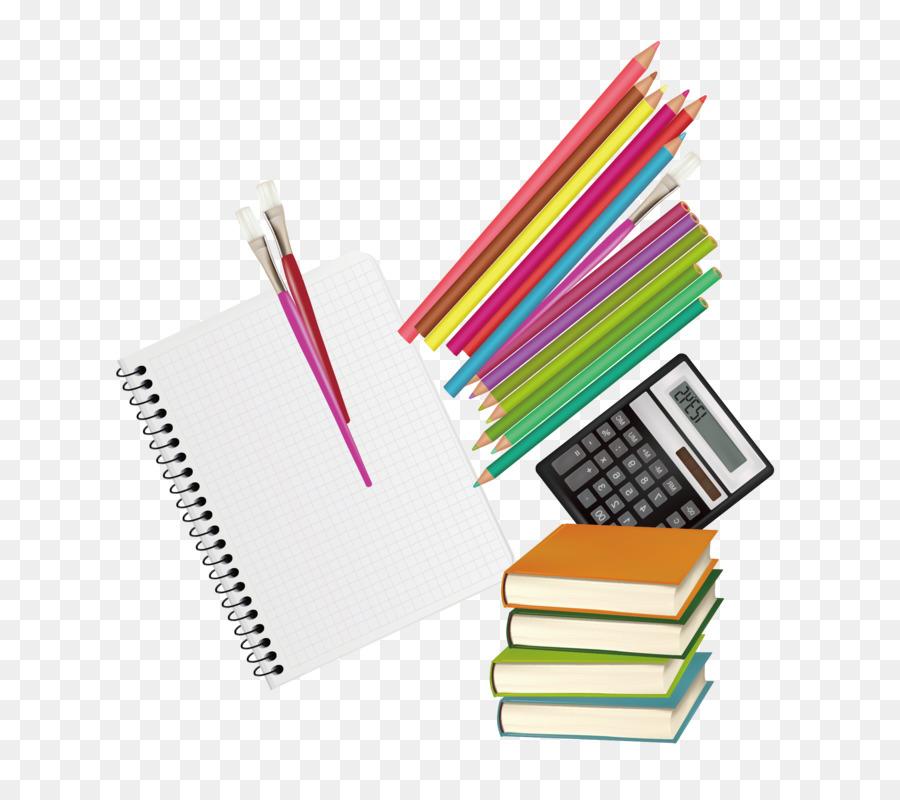 Papel lápiz de Color - Los libros y los lápices de colores vector de ...