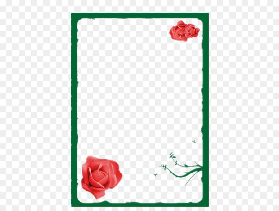 Las rosas de jardín Verde - Verde borde de la frontera Formatos De ...