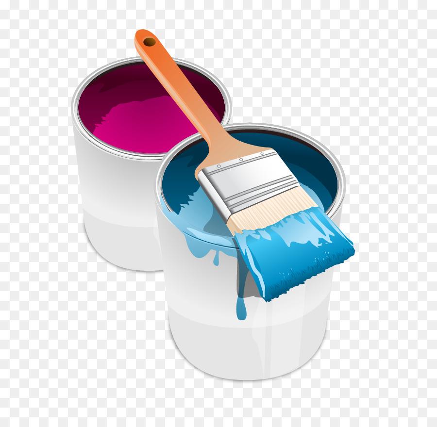 Farbe Tin Can Pinsel Clipart Vektor Malen Png Herunterladen 701