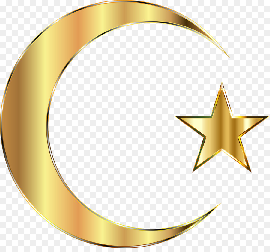 Star And Crescent Moon Clip Art Golden Stars And The Moon Png